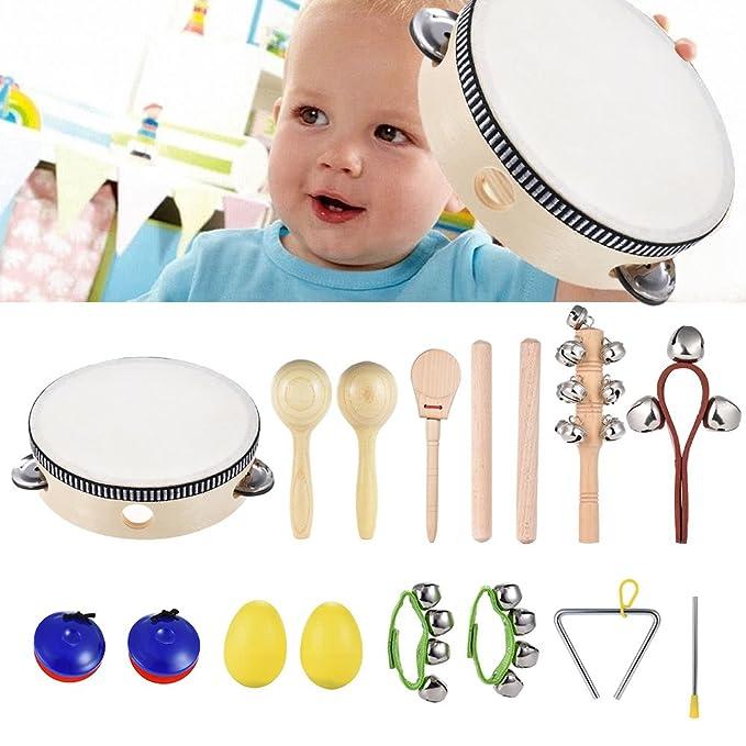 Newest Kids Musical Toy Preschool Child Hand Wrist Bell Jingles Shake Instrument