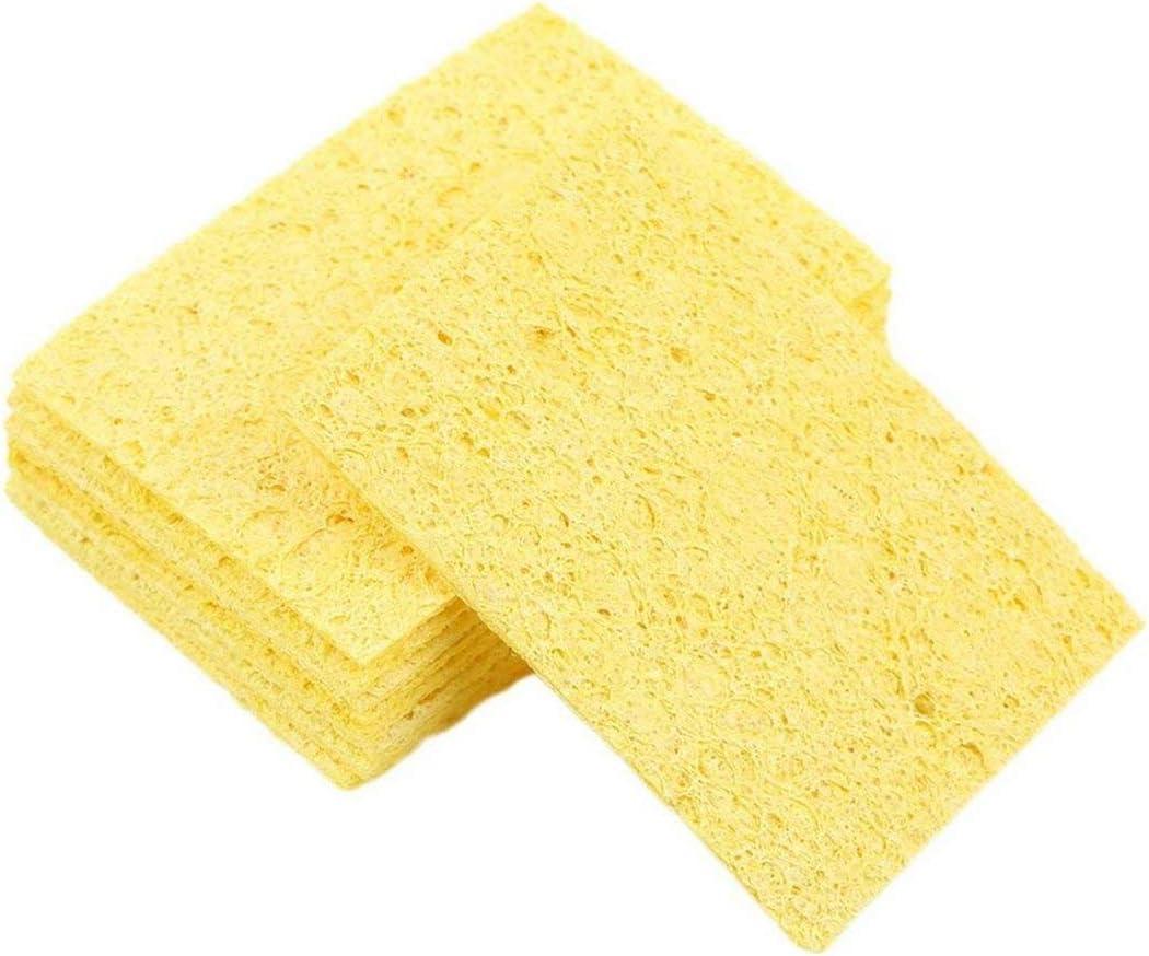 Triamisus 10 st/ücke Hochtemperaturbest/ändige L/ötkolben L/ötspitze Schwei/ßen Reinigungsschwamm Gelb Heatstable Reinigungsschwamm