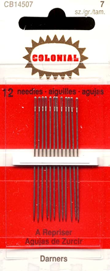 12 Pkgs of 15 Size 9 Cotton Darners Hemming Embroidery Hand Sewing Needles