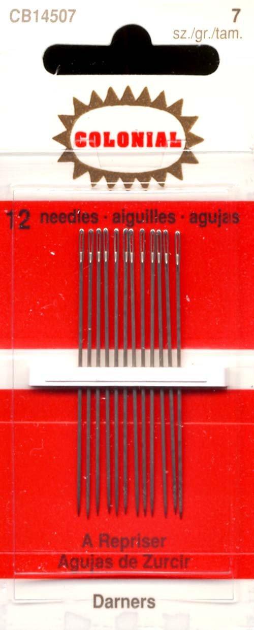 B004KZ0U56 Colonial Needle 12 Count John James Cotton Darners Needles, Size 7 61sxvnip3TL