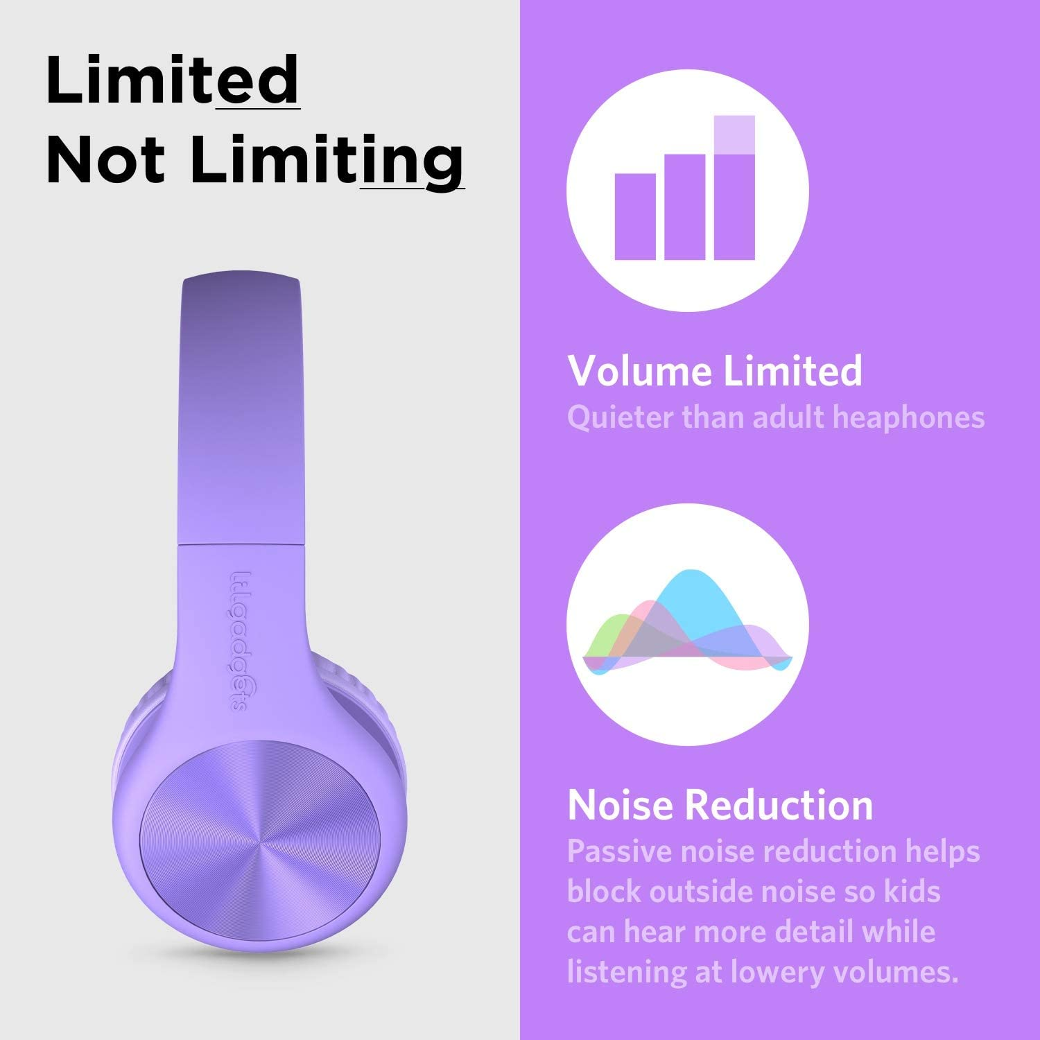 Children LilGadgets Connect+ PRO Kids Premium Volume Limited Wired Headphones with SharePort and Inline Microphone New - Magical Unicorn