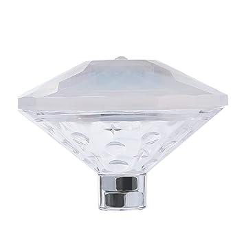Best País RGB amarilla luz bajo el agua Introdujo Diamante flotador Luz impermeable en la bañera