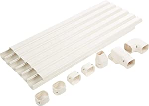 """Senville SENLC-6M 20 Ft. Decorative Line Set Cover Kit for Mini Split Air Conditioners 3.5"""""""