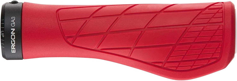 Mango para Bicicleta Adulto Unisex Rojo Ergon Grips Technical GA3 Large Risky Red