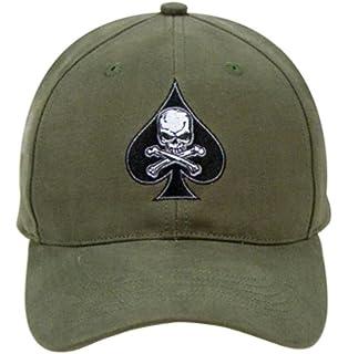 9884 Olive Drab Low Profile Death Spade Baseball Cap 6fa440dfcd4