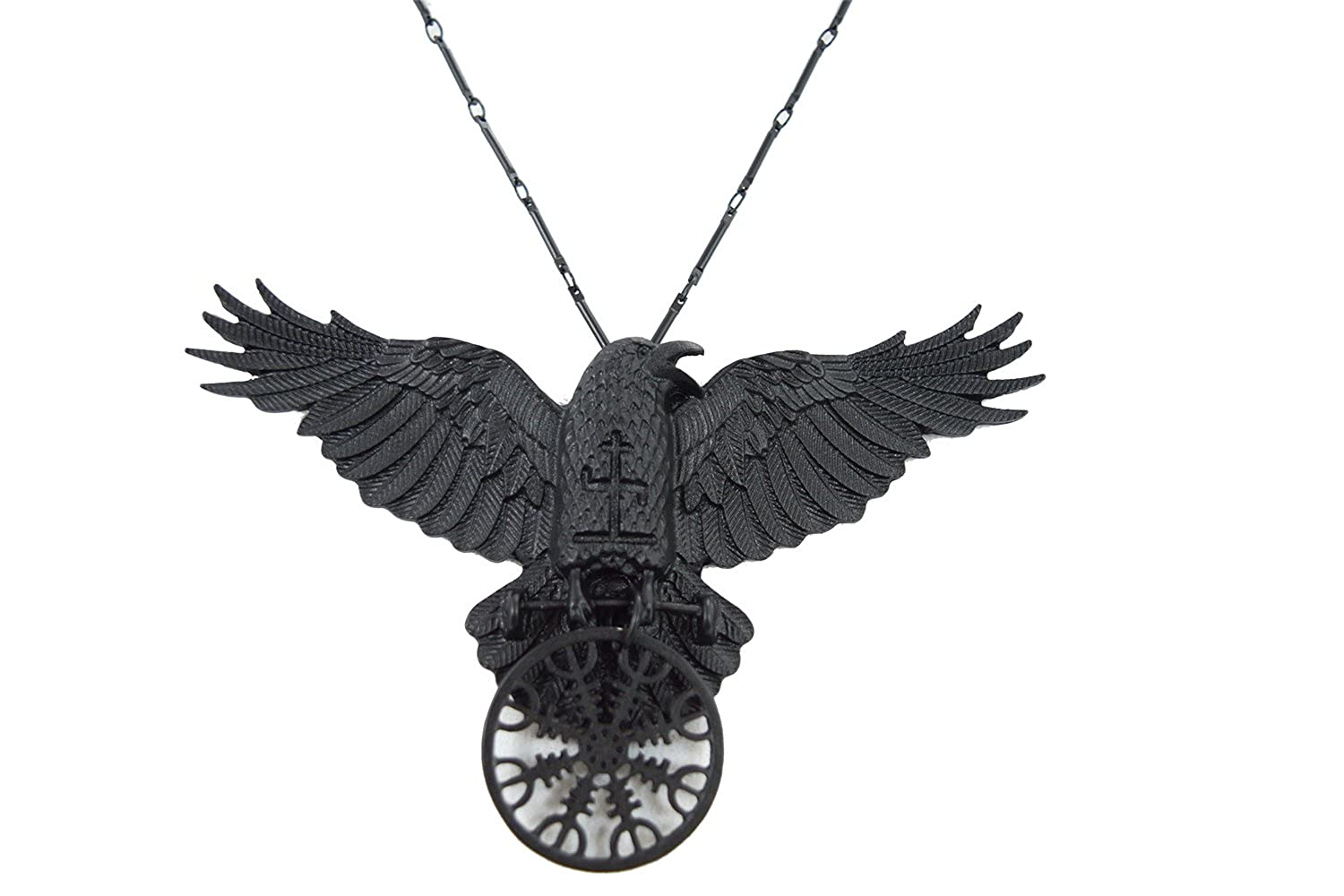 Restyle Witchcraft Dark Magic Raven Helm of Awe Gothic Raven necklace