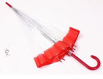 WKAIJCK Paraguas Paraguas Transparente Paraguas Princesa Paraguas Hongo Sombrilla Bloqueador Solar A Prueba De Viento Protección