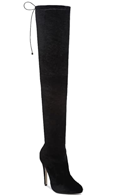 873c4f6677f Womens Ladies Thigh High Over The Knee Boots Stiletto Heel Lace Up Shoes  Size 3-8 (4
