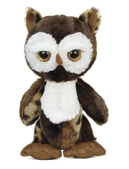 Amazon Com Bearington Big Head Hoots Owl Stuffed Animal Toy 8