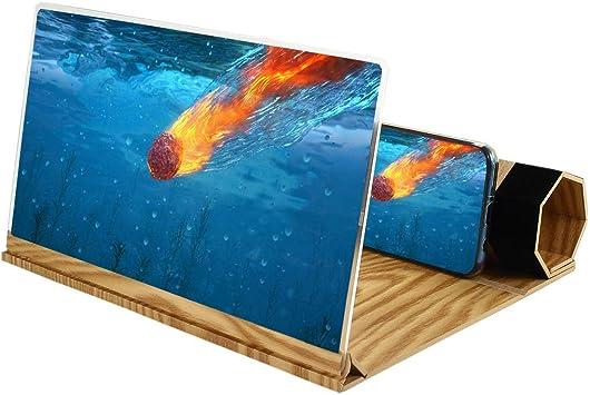 Umiwe Lupa de Pantalla de Teléfono 3D, 12 Pulgadas Amplificador HD ...