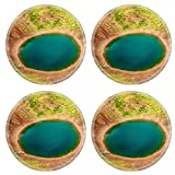 Liili Round Coasters Non-Slip Natural Rubber Desk Pads IMAGE ID: 17924075 Kerid is a beautiful crater lake of a turquoise color located on the South West of Icela