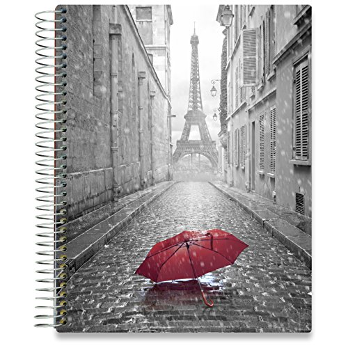 Planner 2018-2019 Academic Year Calendar - 8.5 x 11 Hardcover - 15 Months Dated April 2018 to June 2019 - Daily Weekly Monthly Spiral Planner with Stickers - Pages in Color | by Tools4Wisdom Planners 2 Page Daily Dated Calendar