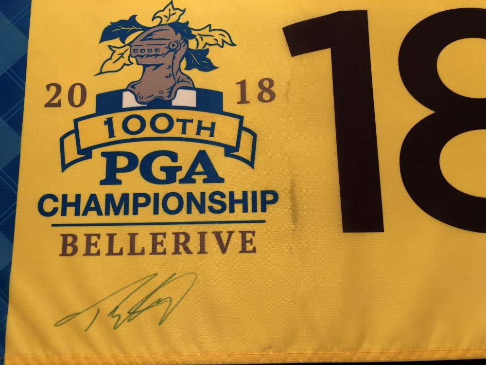 TOMMY FLEETWOOD SIGNED 2018 PGA CHAMPIONSHIP BELLERIVE FLAG MASTERS US OPEN K2