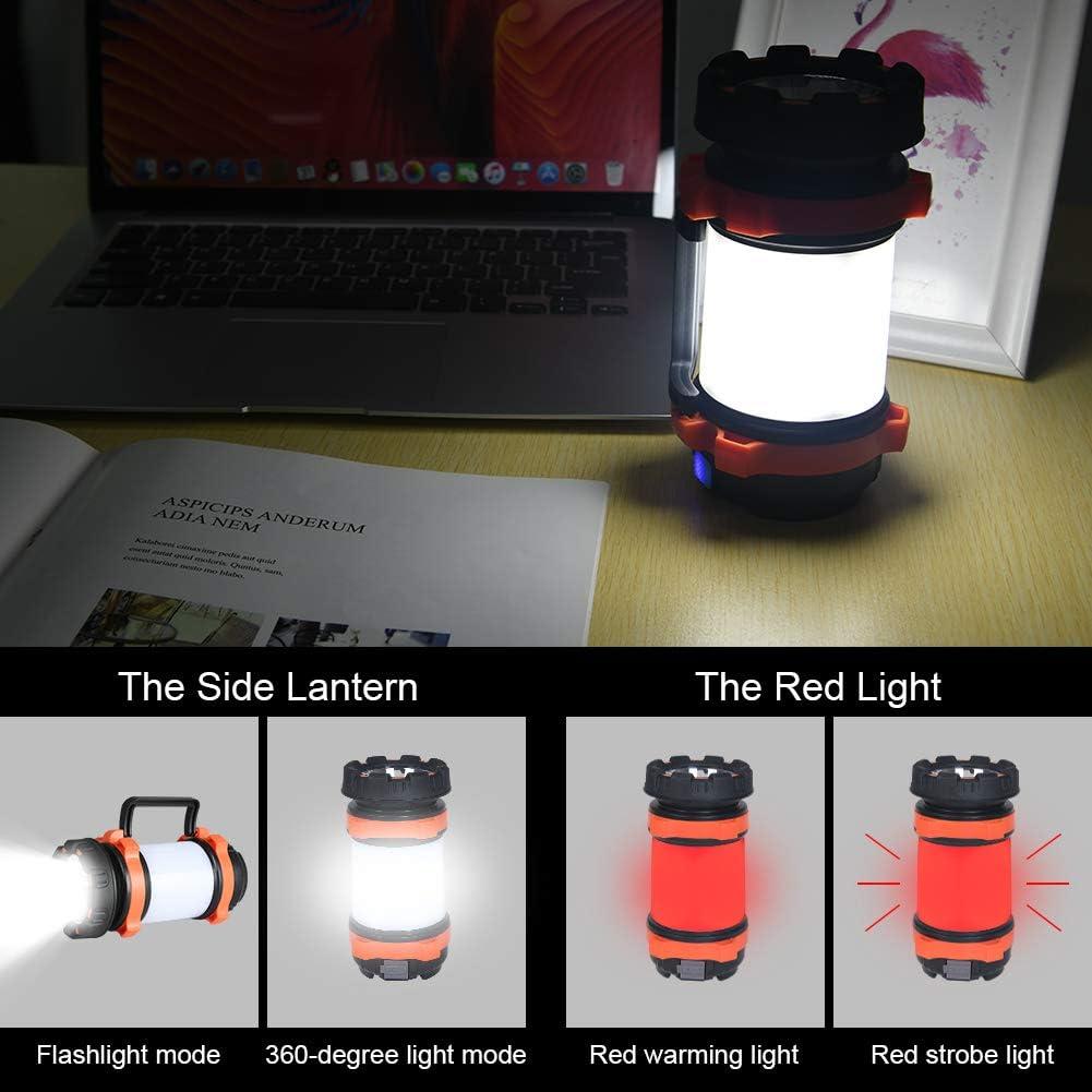 Antorcha LED para iluminaci/ón Exterior Pesca Emergencia 4 Modos Flintronic Linterna de C/ámping Perfecta para Senderismo 1000LM Resistente al Agua Recargables 3600mAh Banco de energ/ía