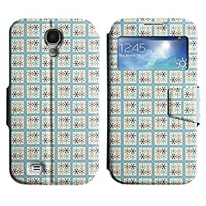 Be-Star Colorful Printed Design Slim PU Leather View Window Stand Flip Cover Case For Samsung Galaxy S4 IV / i9500 / i9505 / i9505G / SGH-i337 ( Box Flakes ) Kimberly Kurzendoerfer