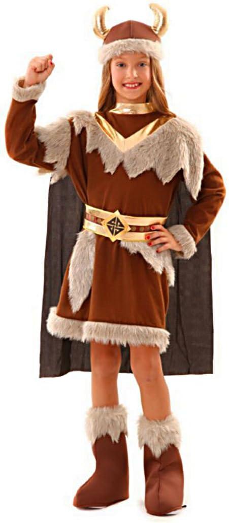 Disfraz de Vikinga para niña: Amazon.es: Juguetes y juegos