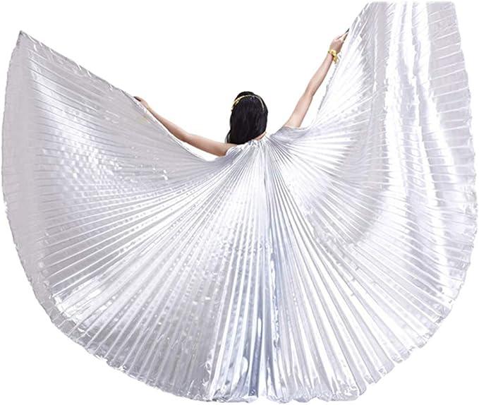 Tookang Donna 360 Gradi Ali di Iside MulticoloreAdulto Danza del Ventre Costume Prestazione Danza Cosplay Accessori No Bastoni