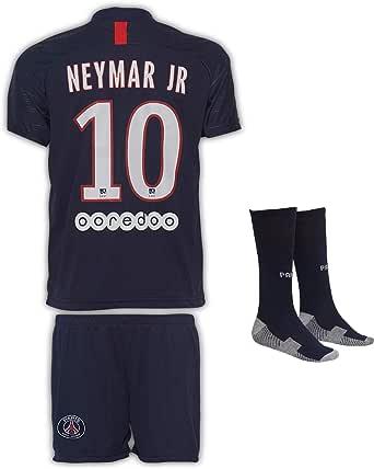 Paris Neymar #10 2020/21 thuisshirt shorts en sokken kinderen en jongeren maat