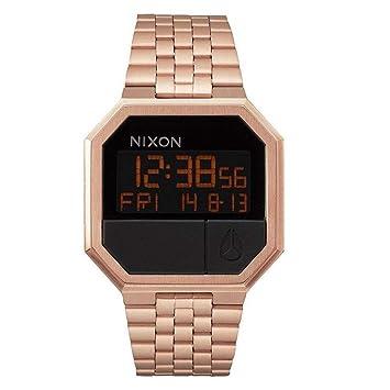 Nixon Reloj Digital de Cuarzo para Mujer con Correa de Acero Inoxidable - A158897-00: Amazon.es: Relojes