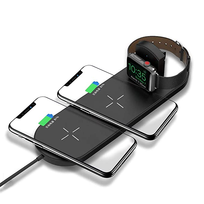 DoSHIN - Cargador inalámbrico 3 en 1 para Apple Watch ...
