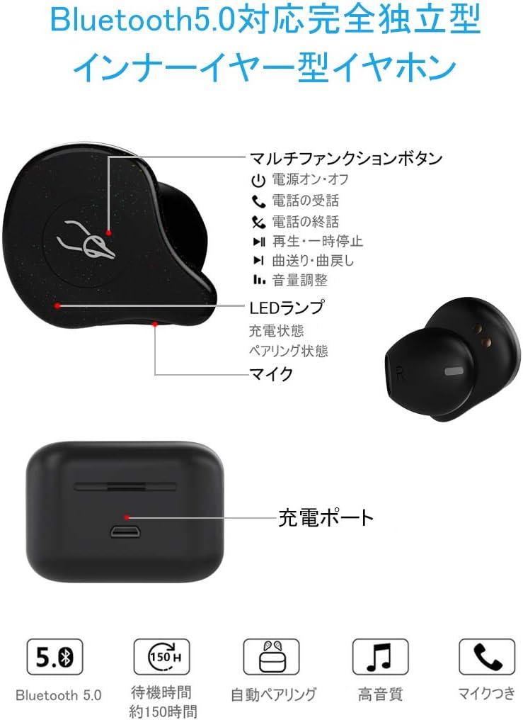 【中華ワイヤレスイヤホン】okcsc X12 Pro ワイヤレスイヤホン インナーイヤー bluetooth 5.0 ハイレゾ相当 高音質 ノイズキャンセリング 防水