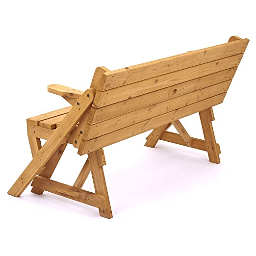 Trueshopping modbury two in one convertible garden bench and picnic trueshopping modbury two in one convertible garden bench and picnic table simple conversion from bench to table and benches with provision for parasol watchthetrailerfo