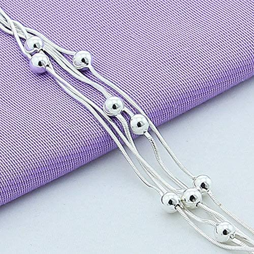 Davitu Free Shipping Silver Jewelry 925 Silver Bracelets Beads Bracelet Silver Chain Bracelets Jewelry For Women Gift