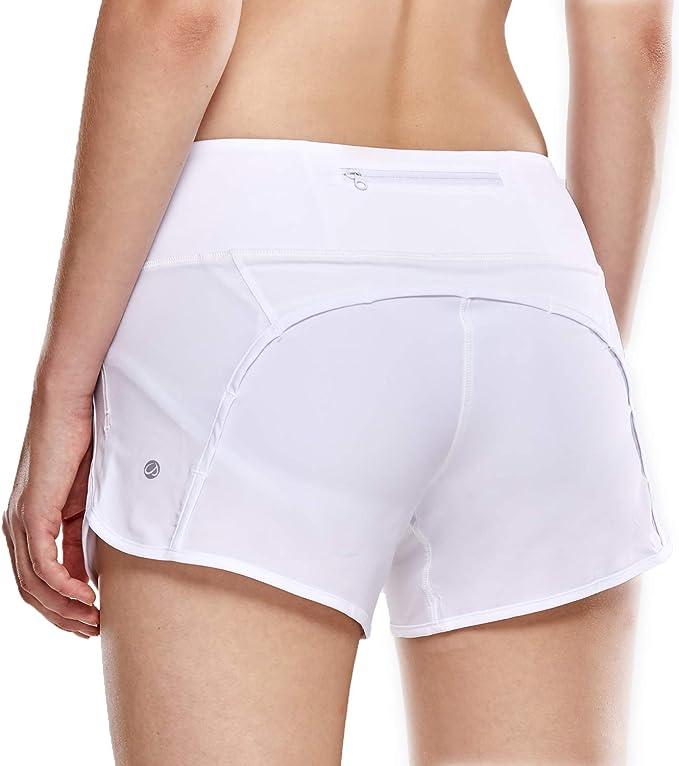 TALLA 44. CRZ YOGA Pantalón Corto Deportivo Mujer Shorts Casual con Bolsillo para Gimnasio - 10cm
