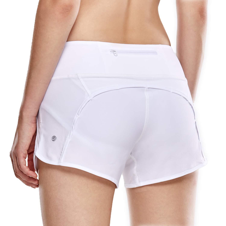 CRZ YOGA Pantalón Corto Deportivo Mujer Shorts Casual con Bolsillo para Gimnasio - 10cm