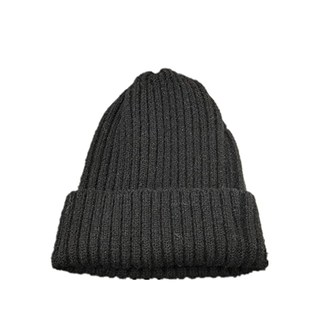 289e78b8d0bdfd Chunky Soft Stretch Cable Knit Beanie Hair Ball hat Keep Warm Casual(Black  One Size