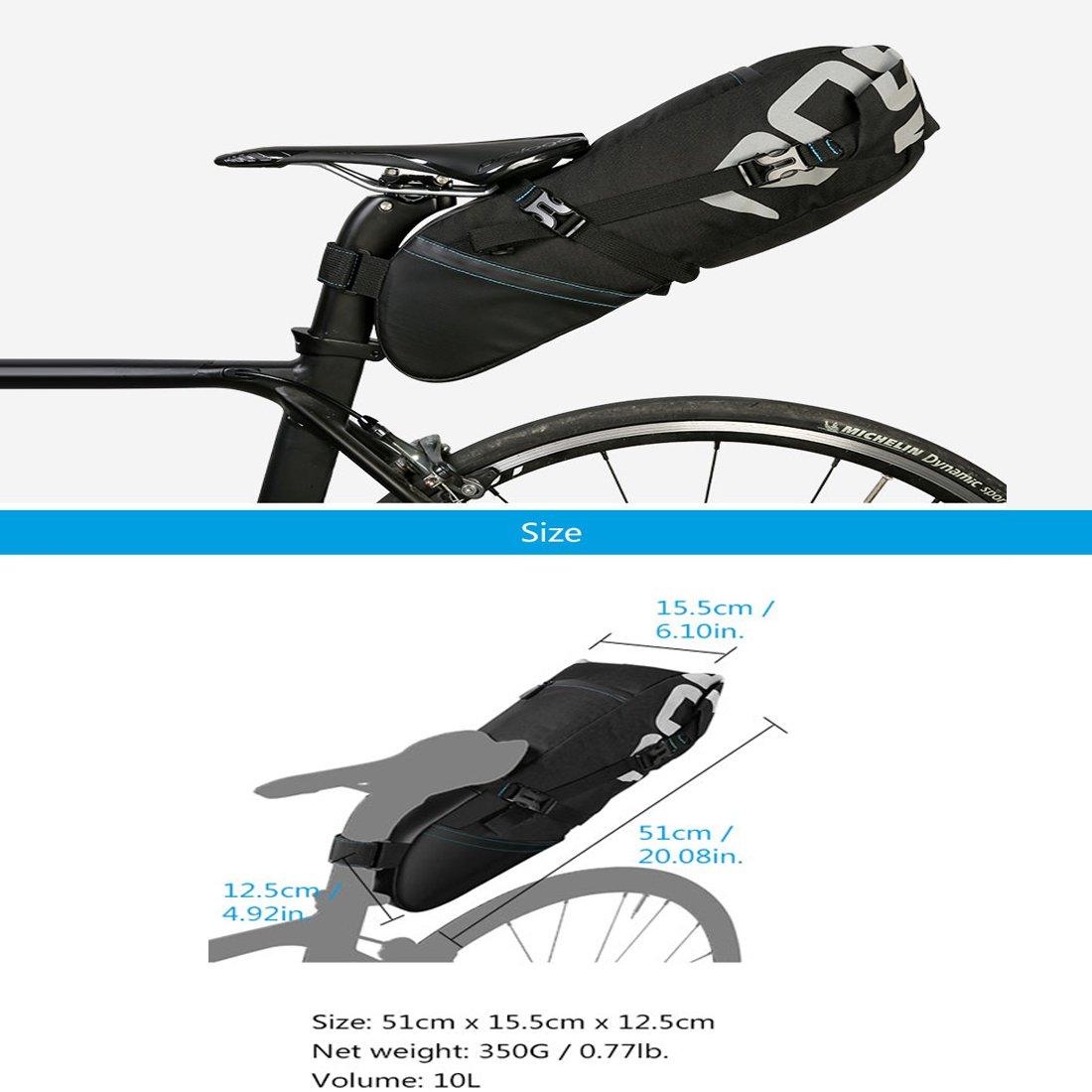 con apertura arrotolabile e logo riflettente Sacca sottosella per mountain bike e bici da citt/à capacit/à: 10 l XPhonew Borsa da sellino per bicicletta