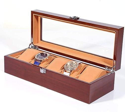 GOVD Caja para Guardar Relojes Madera Estuche relojero para Relojes, joyería, para Relojes 5: Amazon.es: Hogar