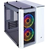 Corsair Crystal 280X RGB Micro-ATX PC Gaming Case, 2 RGB Fans, Lighting Node PRO included, Tempered Glass - White