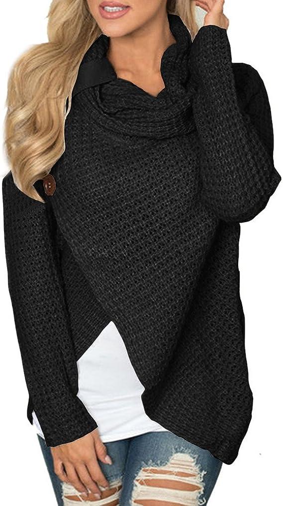 Blouse Femme Manche Longue Sweatshirt Solide