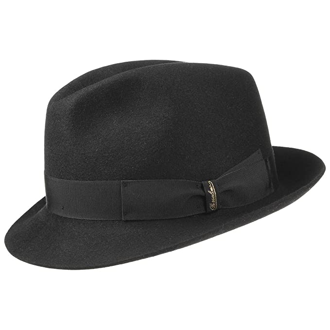 Borsalino Finissimo Trilby Cappello Cappelli di Feltro da Uomo 60 cm - Nero   Amazon.it  Abbigliamento 85acd5b5f03