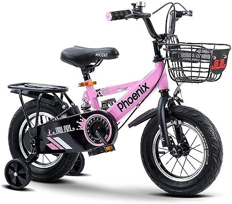 LPYMX Bicicleta para niños Bicicleta de Estilo Libre Chico niña ...