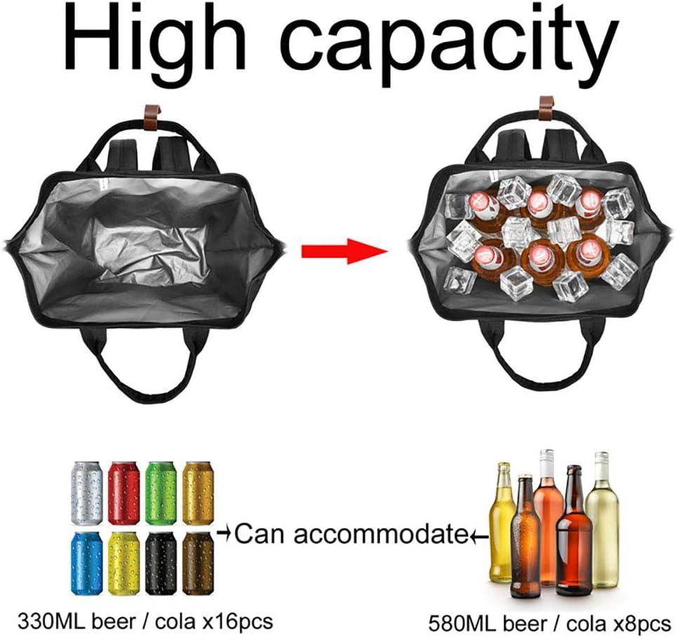 Borse Termiche zaino, borsa termica pranzo per la conservazione delle donne a lungo termine per camping/BBQ/Acquisto della famiglia attività all'aperto,C C