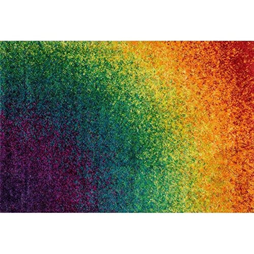 Loloi Barcelona Shag BS-01 Polypropylene And Viscose 3-Feet 9-Inch by 5-Feet 6-Inch Area Rug, Rainbow