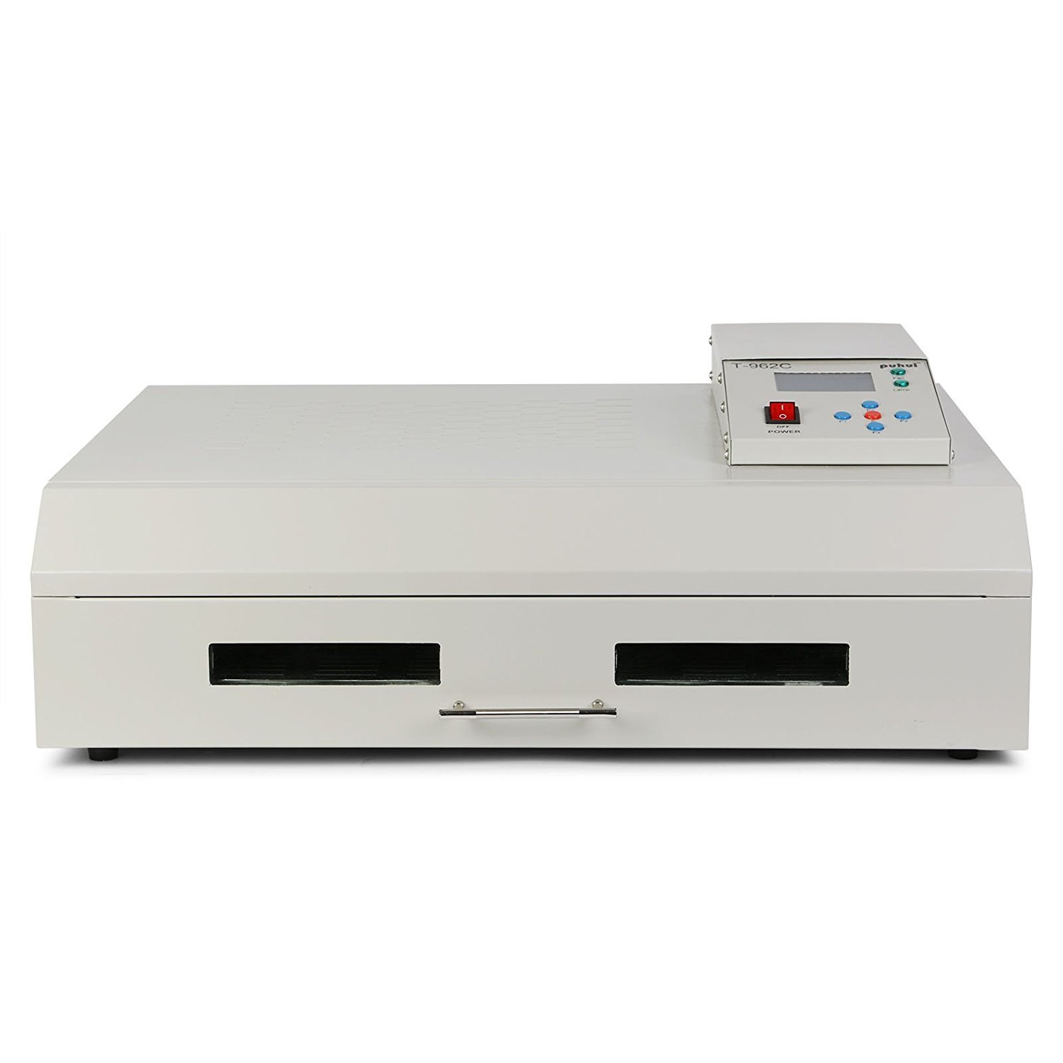 Popsport Infrared Reflow Oven T962C Reflow Soldering Machine 2800W 16 x 24 Inch Infrared IC Heater Reflow Oven Machine for Soldering Various SMD and BGA Components