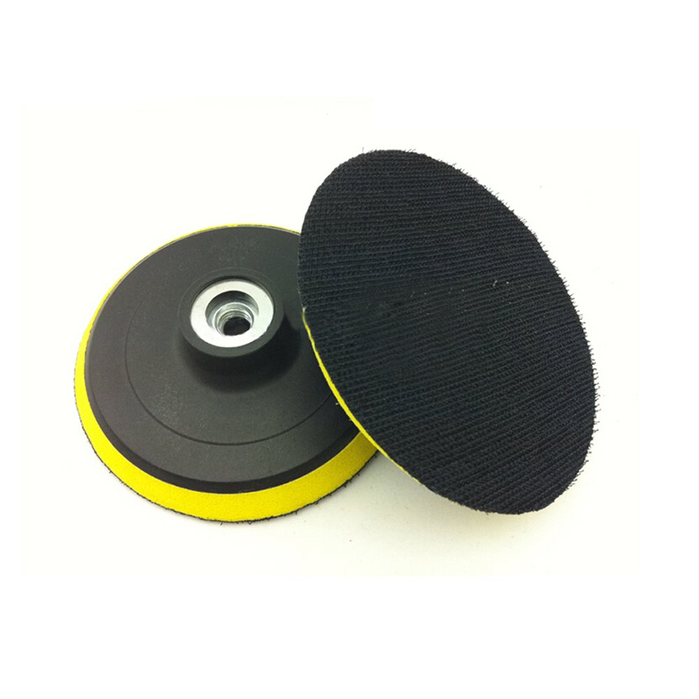 4 Inch/100mm Magic Sticker Backing Pad Orbital Sander Polisher Sanding Pad, Hook and Loop Backing Pad with Power Drill Adapter, Self-Adhesive Type Grinder Polishing Disc Behavetw