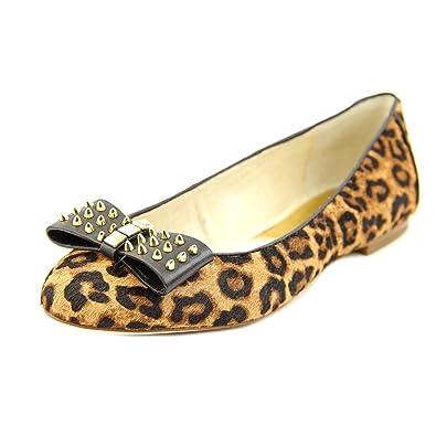 8db73c406fe2e MICHAEL Michael Kors Women s Devin Ballet Cheetah Brown Mini Cheetah  Haircalf Spikes Studs Flat