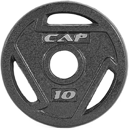 2 CAP Standard Grip 10 lb Cast Iron Weight Plates Barbell 20 lbs FREE SHIPPING