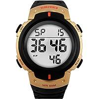 SKMEI Reloj Digital Deportivo Resistente al agua. Cronómetro, Alarma, fecha y Retroiluminación para Hombre. Modelo Hail