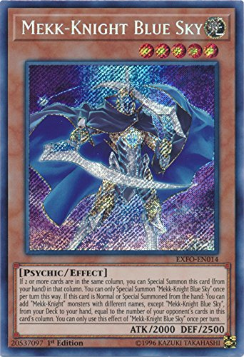 Mekk Knight Blue Sky   Exfo En014   Secret Rare   1St Edition   Extreme Force  1St Edition