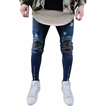 Pantalones Vaqueros Rotos Hombre, Amlaiworld Pantalones ...