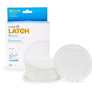 Munchkin Latch Miracle Nursing Pads, 120 Count