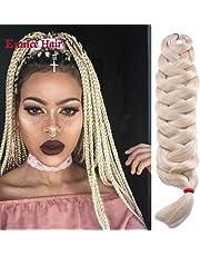 6 Pieces Jumbo Braid Synthetic Hair Single Color 41 Inches 165g Kanekalon Hair Braiding Extensions