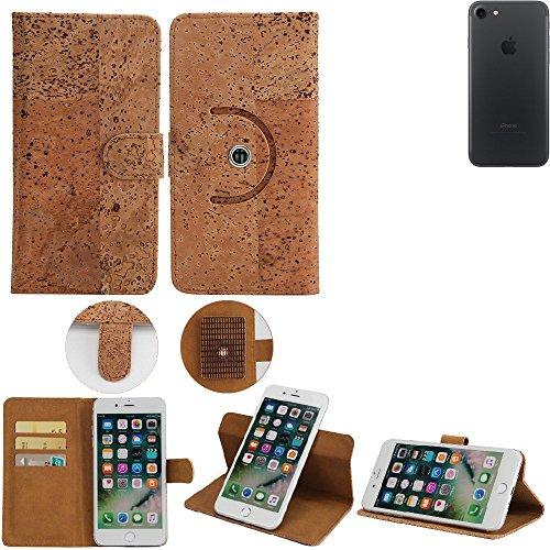 Housse / Coque de Liège pour Apple iPhone 7 Case 360° Cover Flip Style portemonnaie walletcase, protecteur shell Flip Cover - K-S-Trade (TM)