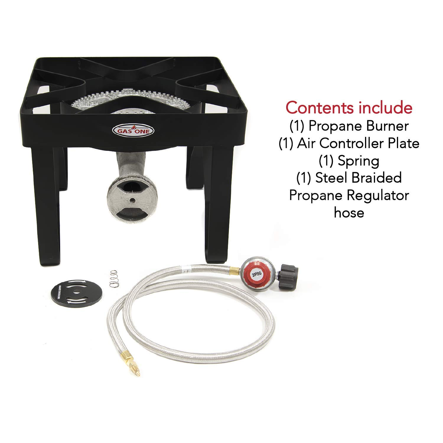 GAS ONE 200,000 BTU Square Heavy Duty Single Burner Outdoor Stove Propane Gas