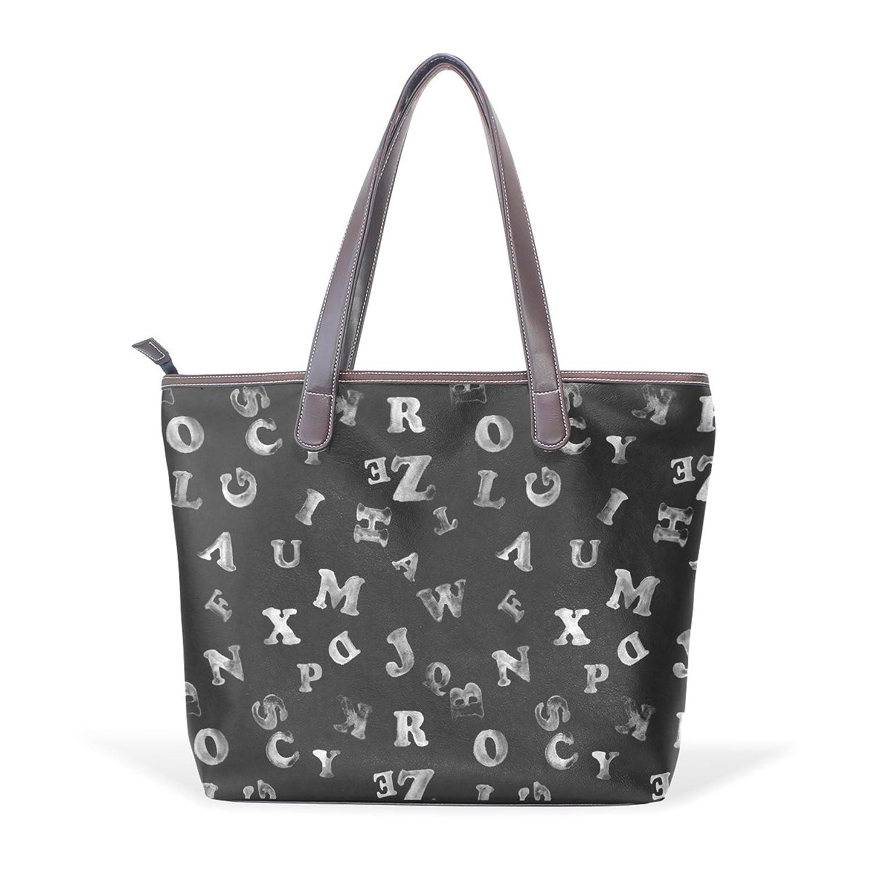 Womens Leather Tote Bag,Cartoon Cute Orange Dog,Large Handbag